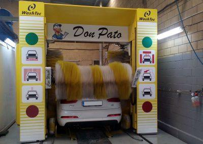 don pato, túnel de lavado